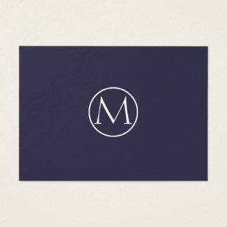 Indigo-elegantes Monogramm Visitenkarte