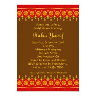 Indische Art-Brautparty-Einladung 12,7 X 17,8 Cm Einladungskarte