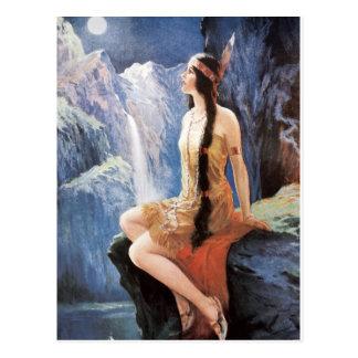 Indische Mädchenzwanziger jahre Postkarte