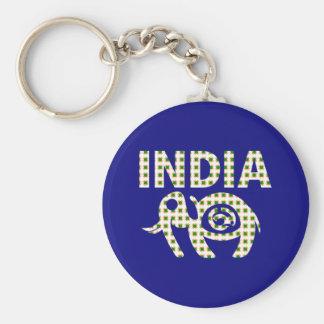 Indischer Elefant mit Kalb Schlüsselanhänger