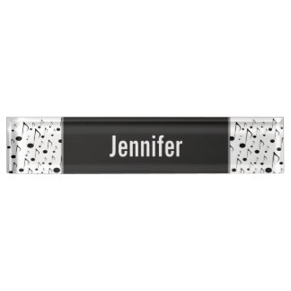 Individueller Name + Viele musikalischen Schreibtischplakette