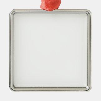 Individueller quadratischer Anhänger Quadratisches Silberfarbenes Ornament