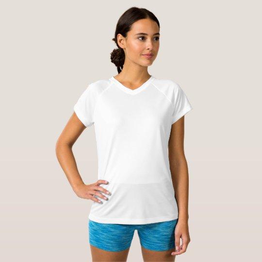 Champion Double Dry T-Shirt mit V-Ausschnitt für Frauen