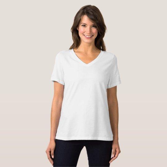 Frauen Bella+Canvas Relaxed Fit V-Ausschnitt T-Shirt