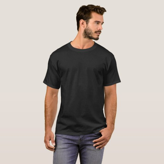 Männer Dunkles Basic T-Shirt