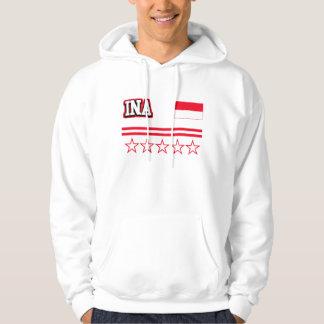 Indonesien-Flagge Hoodie