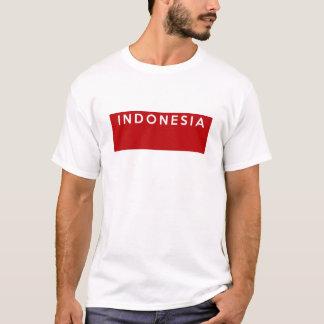Indonesien-Landesflaggetextname T-Shirt