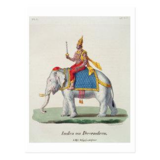 "INDRA oder Devendra, von ""L'Inde francaise…"", Postkarte"