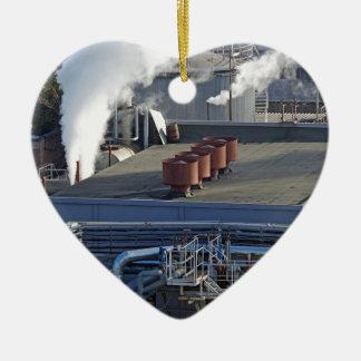 Industrielle Infrastruktur, Gebäude und Keramik Ornament