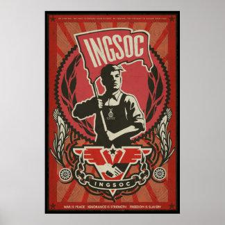 INGSOC Propaganda-Plakat 1984 Poster