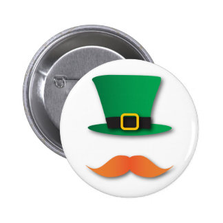 Ingwer-Schnurrbart-Kobold-niedlicher St Patrick Runder Button 5,7 Cm