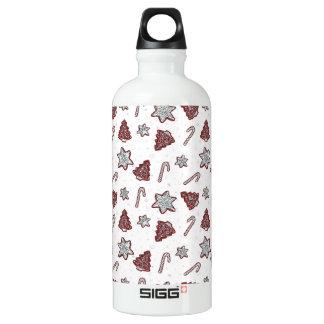 Ingwerplätzchen Weihnachtsmuster Aluminiumwasserflasche