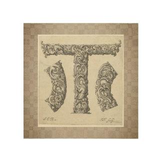 """Initiale der Antiken-""""T"""" Holzdrucke"""