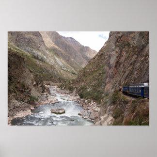 Inkaschienenzug zu Machu Picchu Plakat