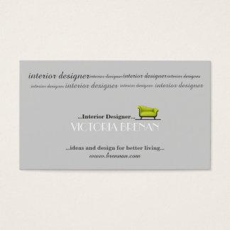 Innenarchitekt-Sofa-Haus-Dekorateur-Stylist Visitenkarte