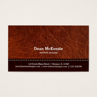 Innenarchitektur des Brown-Lederblickes Visitenkarten