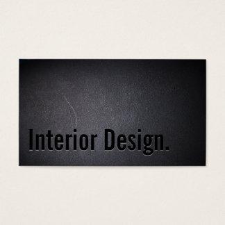Innenarchitektur-mutiger Text-eleganter dunkler Visitenkarten