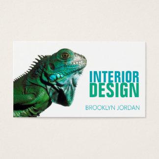 Innenarchitekturdesignerchamäleon-Visitenkarte Visitenkarten