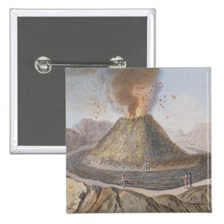 Innenraum des Kegels von Vesuv vor dem E 1767 Quadratischer Button 5,1 Cm