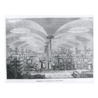 Innenraum von Marshalls Flachs-Mühle Postkarte