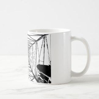 Innere Öl-Ölplattform-Skizze Kaffeetasse