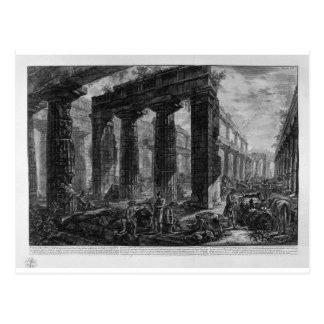 Innerhalb des gleichen Tempels Giovanni Battista Postkarte