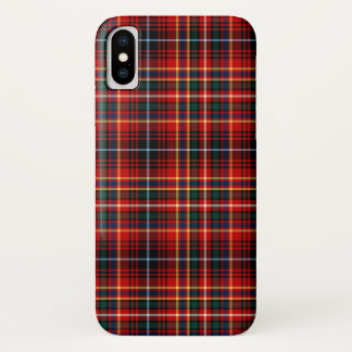 Innes Clanheller roter Tartan iPhone X Hülle
