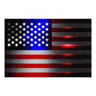 Innovative Laser-Schnitt-amerikanische Flagge 1 Fotodruck