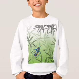 Insekten-Bambus verlässt grünes einzigartiges Sweatshirt