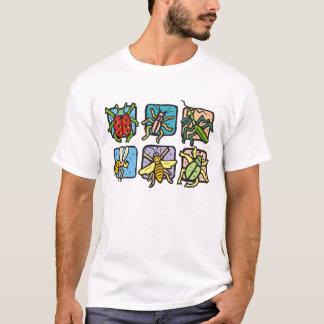 Insekten in den Quadraten T-Shirt