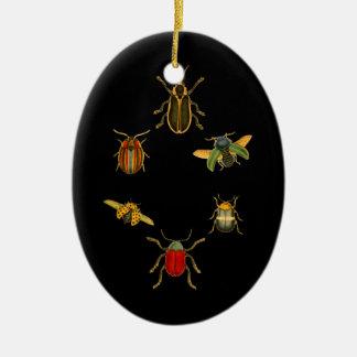 Insekten Ovales Keramik Ornament