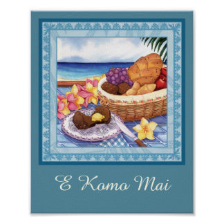 Insel-Café - Frühstück Lanai Poster