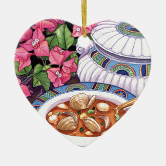 Insel-Café - Suppe wird gedient Keramik Herz-Ornament