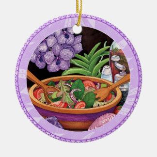 Insel-Café - tropischer Salat Keramik Ornament