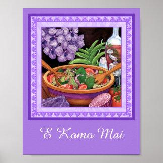Insel-Café - tropischer Salat Poster
