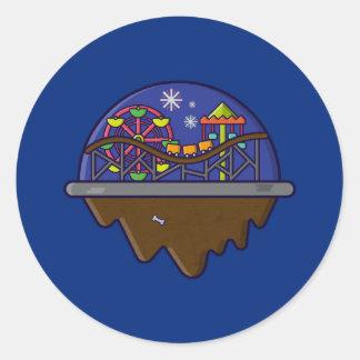 Insel Serie - Karnevals-Insel-Aufkleber Runder Aufkleber