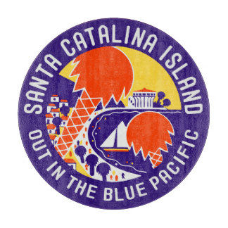 Insel-Vintager Entwurf Sankt Catalina Schneidebrett