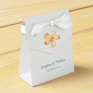 Inselplumeria-Gelb-Aquarell-Hochzeit Geschenkschachtel