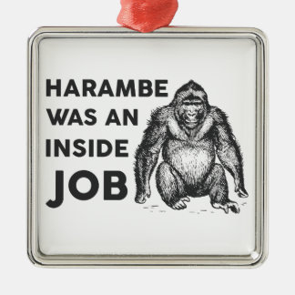 Insider-Job Harambe Silbernes Ornament