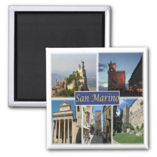 Inspektion * San Marino - Monte Titano - Panorama Quadratischer Magnet