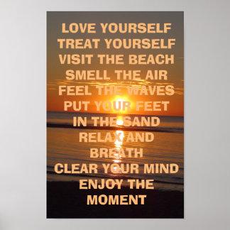 Inspirational Beachy Zitat-Plakat der Liebe-sich Poster