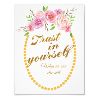 Inspirational Kunstdruck mit Wasserfarbe-Blumen Fotodruck