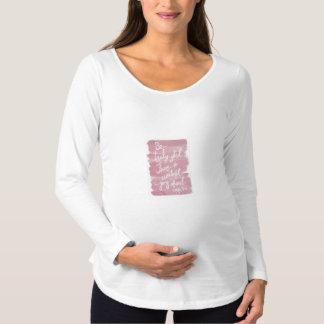 Inspirational langer Hülsen-MutterschaftsT - Shirt