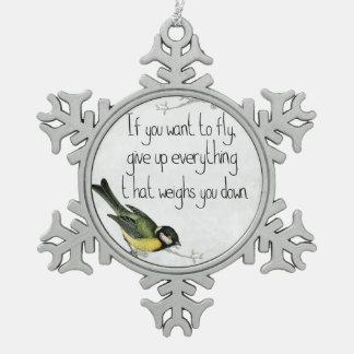 Inspirational motivierend Verzierung des hübschen Schneeflocken Zinn-Ornament