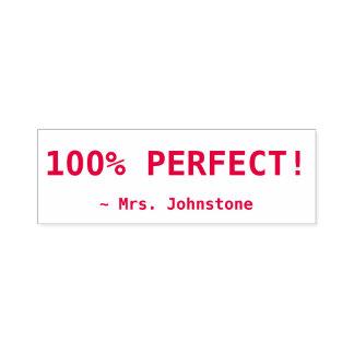 """Inspirierend """"100% PERFEKT!"""" + Kundenspezifischer Permastempel"""