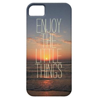 Inspirierend genießen Sie das Kleinigkeits-Zitat iPhone 5 Etui
