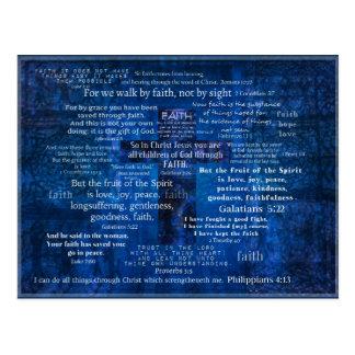 Inspirierend Glauben-Bibel-Verse Postkarte