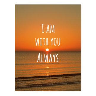 Inspirierend Gott-Zitat: Bibel-Vers bin ich mit Postkarte