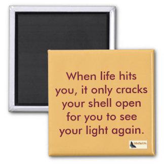 Inspirierend Magnet - steigen Sie oben Quadratischer Magnet