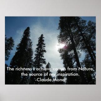 Inspirierend Monet Natur-Plakat Poster